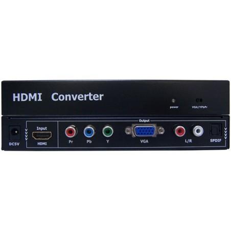 CONVERSOR HDMI A VGA - YPbPr + AUDIO ST - SPDIF