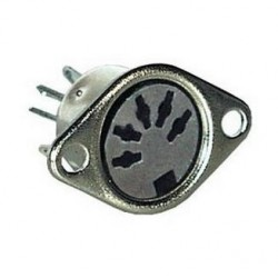 CONECTOR DIN 5 POLOS 45º HEMBRA CHASIS
