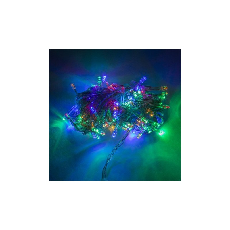 Guirnalda  100 LEDs IP44 220V 10 Metros Multicolor