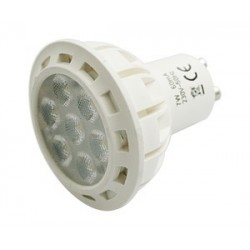 PACK 2 BOMBILLAS LED GU10 7W LUZ CALIDA