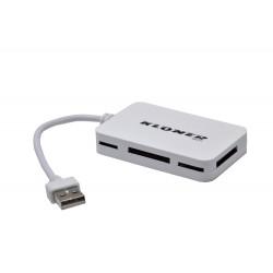 HUB 3 USB + LECTOR DE TARJETAS KLONER