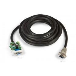 Panel de conexión VGA 15m enchufable con cable