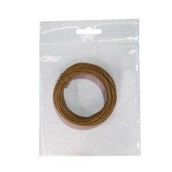 Hilo conex. 0,28 marron 10 mts flexible