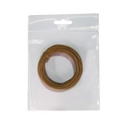 Hilo conex. 0,28 marron 10 mts flexible