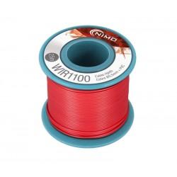 Cable rígido 0,5mm, carrete 25m ROJO
