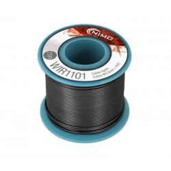 Cable rígido 0,5mm, carrete 25m NEGRO
