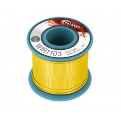Cable rígido 0,5mm, carrete 25m AMARILLO