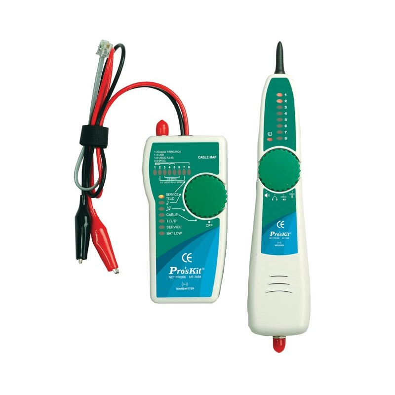 Tester de cableados y localizador por tono