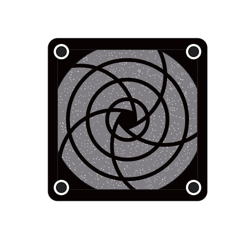 REJILLA PARA VENTILADOR 80 X 80 mm PLASTICO+FILTRO