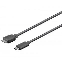 Conexión USB-C 3.1 macho a micro USB-B 3.0 macho 0,6 metros
