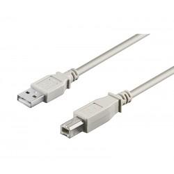 Conexión USB-A macho a  USB-B macho 5 metros
