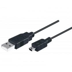 Conexión USB 2.0 macho a Mini USB macho 1,80 metros