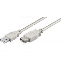 CONEXION USB MACHO - USB  HEMBRA TIPO A 3 METROS