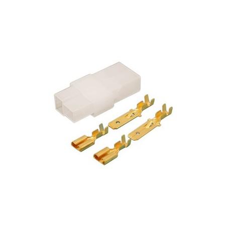 CONECTOR EN T  2 VIAS TERMINAL FASTON 6,3mm