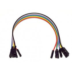 Juego 10 cables hembra-hembra 200mm varios colores