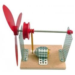 Ventilador con correa. Kit escolar de montaje