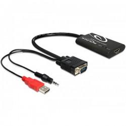 ADAPTADOR VGA A HDMI CON AUDIO