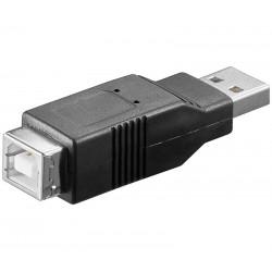 Adaptador USB-A macho a USB-B hembra