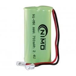Pack de baterías 2,4V/700mAh NI-MH AAA X2