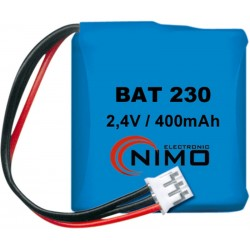 Pack de baterías 2,4V 300mAh Ni-Cd 1/2AA X 2