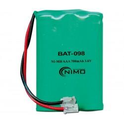 Pack de baterías 3,6V 700mAh NI-MH AAA X 3