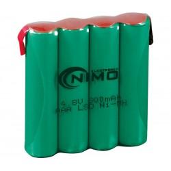 Pack de baterías 4,8V 800mAh NI-MH AAA x 4