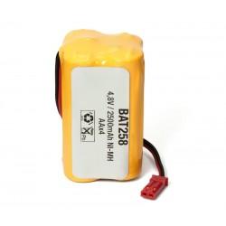 Pack de baterías 4,8V 2500mAh NI-MH AA X 4