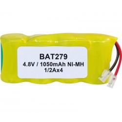Pack de baterías 4,8V 1050mAh NI-MH 1/2A x 4
