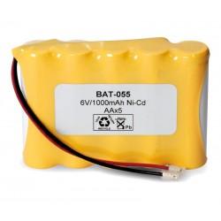 Pack de baterías 6V/940mAh Ni-Cd AA x 5