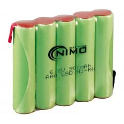 Pack de baterías 6V 900mAh NI-MH AAA x 5