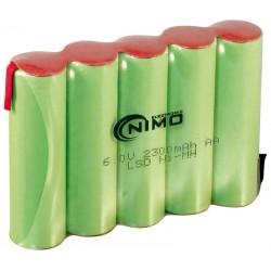 Pack de baterías 6V 2300mAh NI-MH  AA x 5