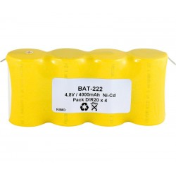 Pack de baterías 4,8V/5000mAh Ni-Cd