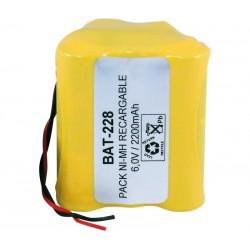 Pack de baterías 6,0V 2500mAh NI-MH AA X 5