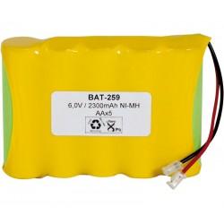 Pack de batería 6V 2500mAh NI-MH AA x 5