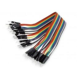 Juego 40 cables macho-macho 200mm en línea