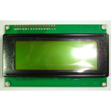 Display LCD de 4 líneas por 20 caracteres.