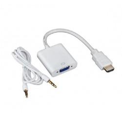 CONVERSOR HDMI A VGA + AUDIO JACK 3,5mm