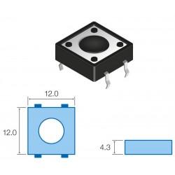 Pulsador para circuito impreso