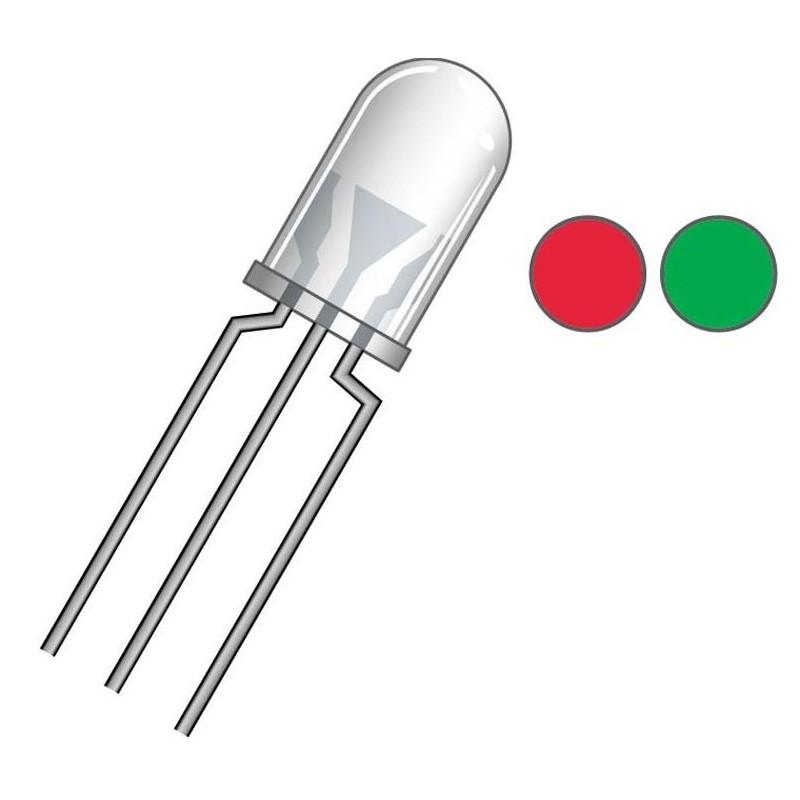 Led bicolor 5mm rojo verde