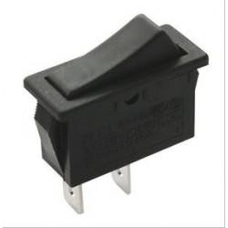 Pulsador negro basculante 2P 1C