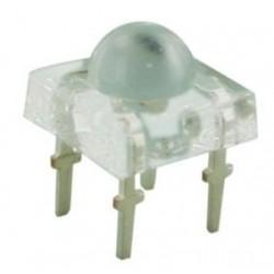Diodo LED blanco 5mm tipo piraña cuadrado