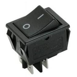 Pulsador basculante 2P 2C cuadrado negro