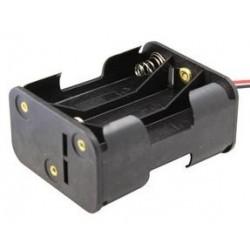 Portapilas 6 pilas AA con cable