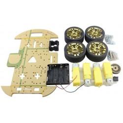 Chasis robot 4 ruedas compatible con arduino