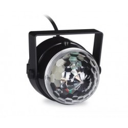 Mini semiesfera con 3 LED RGB 1W con rayos móviles