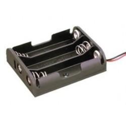 Portapilas plano para 3 pilas AA con cable