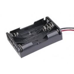 Portapilas plano para 3 pilas AAA con cable