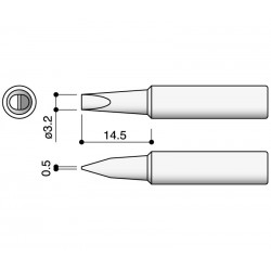 Punta serie T18 para soldador Hakko HKFX8801