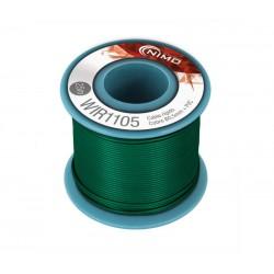 Cable rígido 0,5mm, carrete 25m VERDE