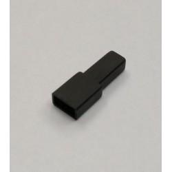 FUNDA FASTON HEMBRA 6.3mm NEGRA 10 UNIDADES